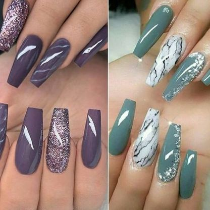 Glossy nail extensions