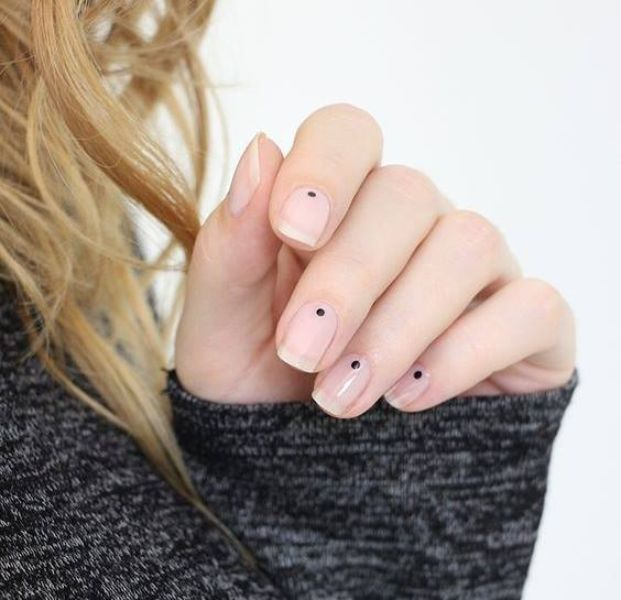 Manicured woman nails