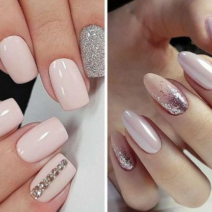 Round shaped nail extensions