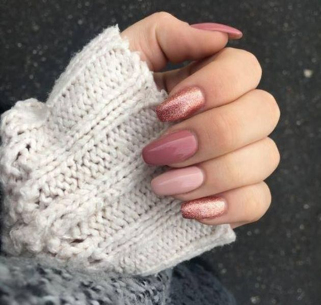 Woman manicured nails